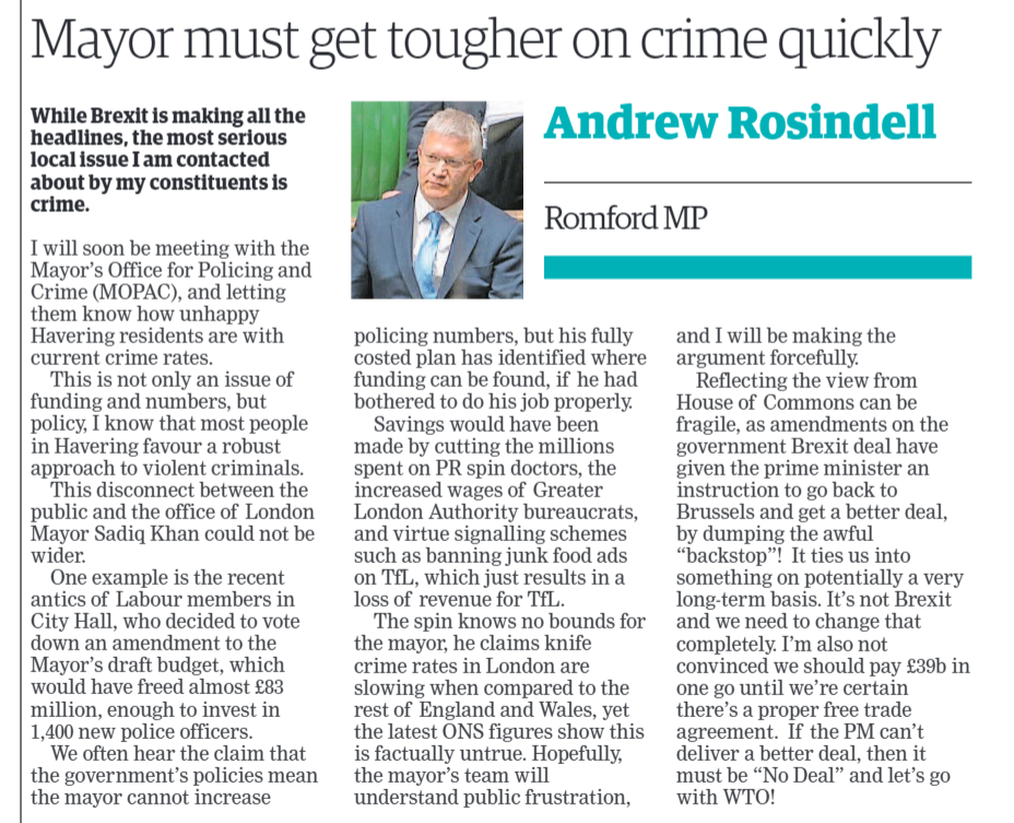 Mayor Must Get Tougher on Crime Quickly